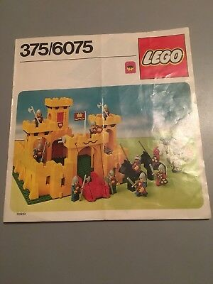 Lego Vintage Yellow Castle Instructions Only 3756075 1499