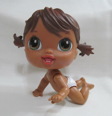 Baby Alive Crib Life Doll HAILEY HULA Retired 2010 Blue Eyes Brown Hair Nude