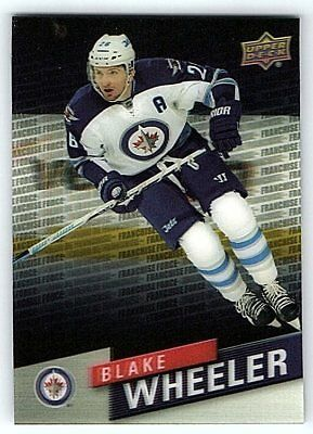 2015-16 UD TIM HORTONS FRANCHISE FORCE BLAKE WHEELER Insert Card FF-10 Rare Mint