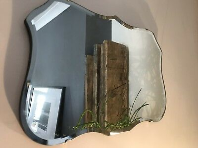 Vintage 1960s Bevel Edge Frameless Wall Mirror