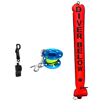Portable Scuba Dive High Visibility SMB Surface Marker Buoy, Spool, Whistle