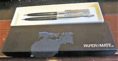 Paper Mate Double Heart Ball Pen And Pencil Set In Box Slim Model Usa