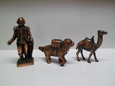 Vintage Cast Iron Coin Banks, George Washington, Saint Bernard Dog, Camel
