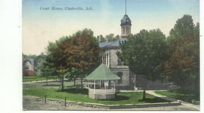 Court House CLARKSVILLE Arkansas Antique 1910 Postcard Post Card
