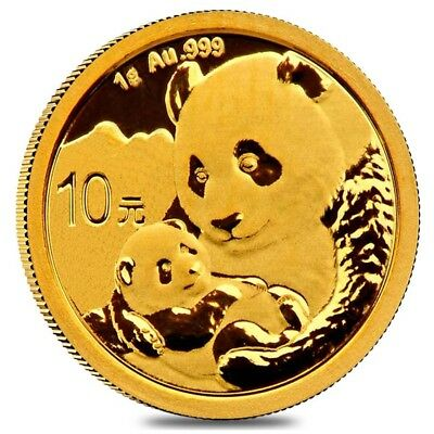 2019 1 gram Chinese Gold Panda 10 Yuan .999 Fine BU (Sealed)