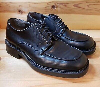 Bill Bl Black Genuine Leather Oxford Dress Shoes Men S Sz 10 5 Made In Italy