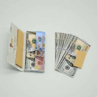 Cigarette paper $100 Dollar Bill Rolling Papers King Size with Filter Tips