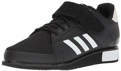 Adidas Mens Power perfect 3 Low Top Lace Up, Black/White/Matte Gold, Size 16.0