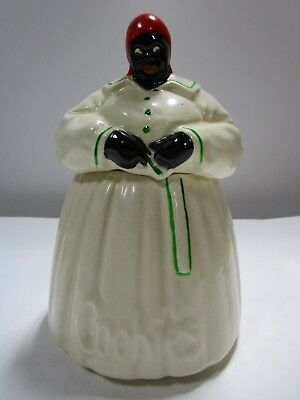 Vintage 1940s McCoy Mammy Aunt Jemima Kitchen Maid Black Americana Cookie Jar