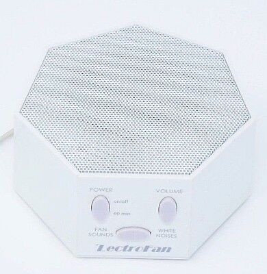 White Noise Machine Used LectroFan Fan Sounds Sleep USB Timer Privacy ASM1007