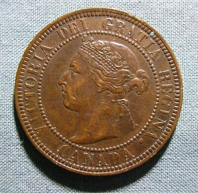 CANADA 1901 Large Cent - 1 penny coin - Higher Grade
