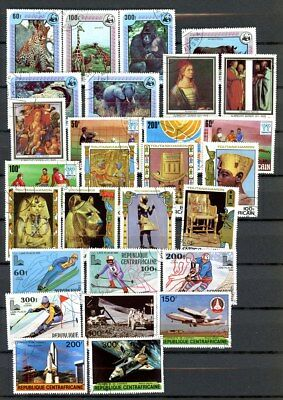 Central Africa Rep. outstanding selection of 28 stamps - Nice group