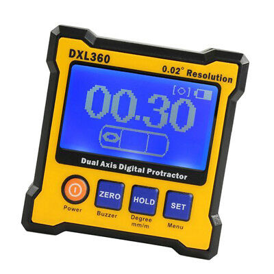 DXL360 Dual Axis Digital Angle Protractor 5 Side Magnetic Base High Precise
