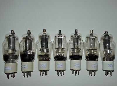1  807 4Y25 ATS25 VT60 vintage tubes ceramic base tested make your pair