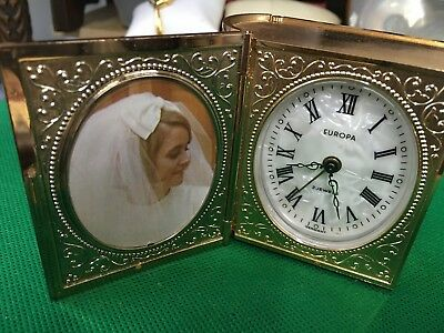 Europa 2 Jewel Alarm Clock in Book Form with Picture Frames