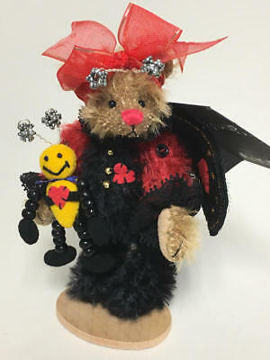"ARTIST DEB CANHAM 2002 8th ISSUE DCAD CLUB TEDDY BEAR ""LADYBUG"""