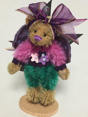 "ARTIST DEB CANHAM 2001 7th ISSUE DCAD CLUB TEDDY BEAR ""FLUTTERBY"""