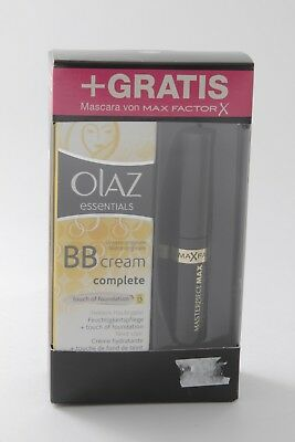 OLAZ essentials BB CREAM complete TOUCH OF FOUNDATION + Mascara MAX FACTOR X