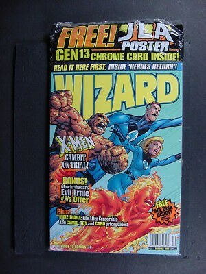 WIZARD MAGAZINE #74 10/1997 POLY-SEAL open, read copy with Gen13 Chrome card