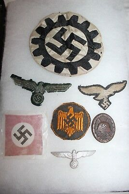 Original WW2 German Black Wound Badge Patches Lot