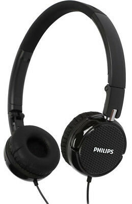 On Ear Foldable Headphones PHILIPS FS3BK Rich Bass Lightweight Black