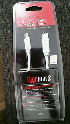 Gigaware 1500007 6 foot (1.82m) firewire cable