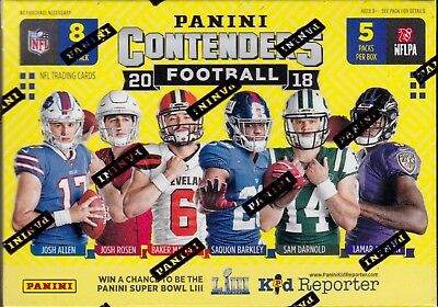 2018 Panini Contenders Football sealed blaster box 5 packs of 8 NFL cards 1 hit