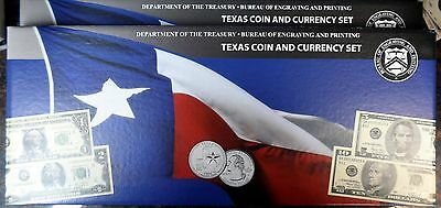 2 Rare 2003 Matched & Consecutive Serial Numbered Texas Coin and Currency Sets