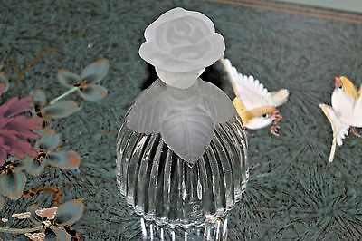 Goebel Glass with frosted rose handle, leaves Inscription  Happy Birthday.