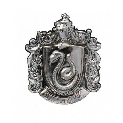 Harry Potter House of Slytherin Crest Logo Pewter Metal Lapel Pin, NEW UNUSED