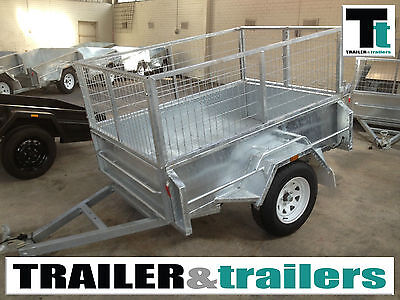 6x4 GALVANISED HEAVY DUTY CAGE TRAILER - 2FT CAGE – HIGH SIDES – NEW WHEELS