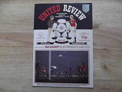 Manchester United v Coventry FAC4 26/01/85