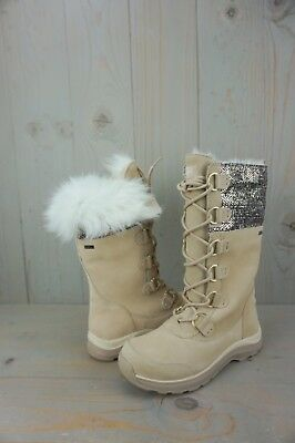 9c90fda1a8 UGG ATLASON FRILL CREAM ROSE GOLD TOSCANA FUR LINED WINTER BOOTS US 9.5 new