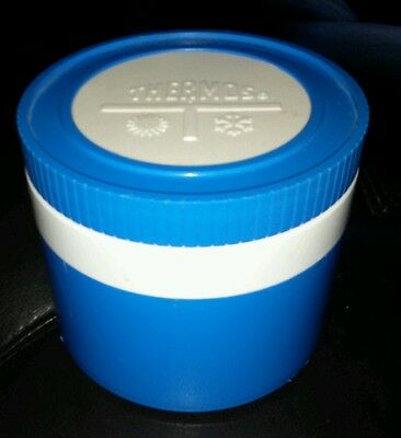 Vintage blue THERMOS Insulated Jar  Lunch Container Model #1155/3 back to school