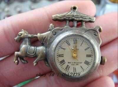 adornment  the ancient carving copper collect mechanical pocket watch RNN