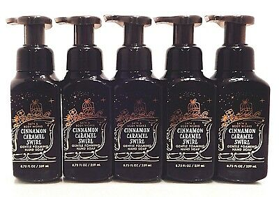 5 BATH & BODY WORKS CINNAMON CARAMEL SWIRL GENTLE FOAMING HAND SOAP 8.75oz NEW!