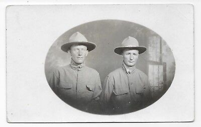 Ww1 Rppc, Two Us Army Soldiers