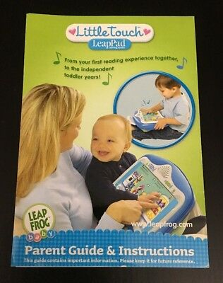 Instruction Manual LeapPad Little Touch 2003