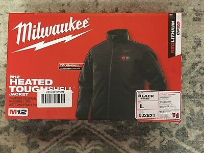 Milwaukee Men's US L M12 Heated Jacket Black 202B21 w/Battery and Charger