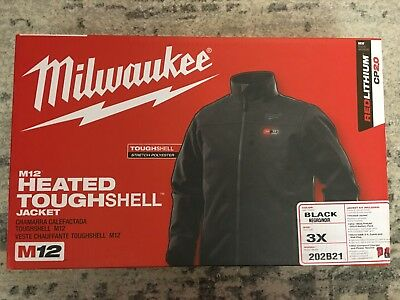 Milwaukee Men's US 3XL M12 Heated Jacket Black 202B21 w/Battery and Charger