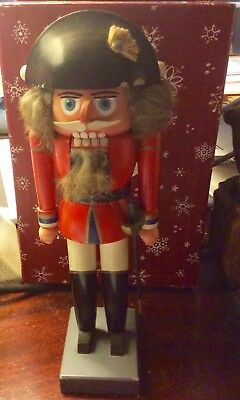Vintage German Erzgebirge Expertic Fur Hair Nutcracker
