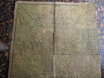Map of Melbourne SERIOUSLY USED Linen Backed