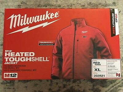 Milwaukee Men's US XL M12 Heated Jacket RED 202R21 w/Battery and Charger
