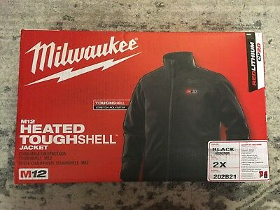 Milwaukee Men's US 2XL M12 Heated Jacket Black 202B21 w/Battery and Charger