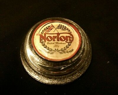 Vintage Style Norton Motorcycle Glass Paperweight...Handcrafted by Artist