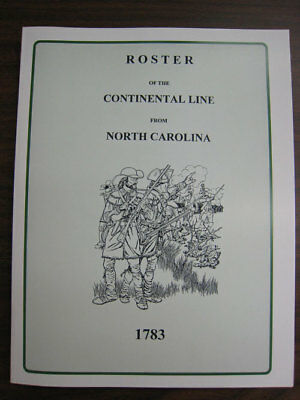 Roster Of Continental Line From North Carolina Nc