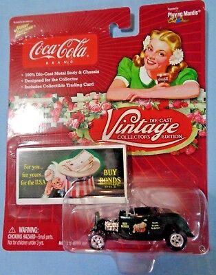 NEW . Coca-Cola Die-Cast .1:64 . Vintage Collection # 12 . 1932 Ford Highboy