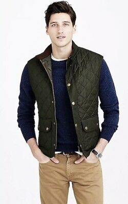 NWT $179 Mens Barbour Lowerdale Quilted Vest |Small | Olive Green