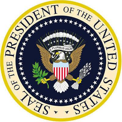 """PRESIDENTIAL SEAL ROUND GLOSSY COLORED STICKERS  1.5"""" x 1.5"""" SHEET OF 3 STICKERS"""