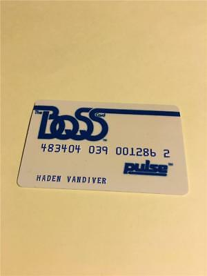 Vtg Boss Pulse Interfirst Bank National Credit Card Collectors Advertising